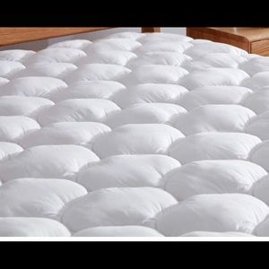 Cotton Mattress Pad Topper Cover with Deep  Bed